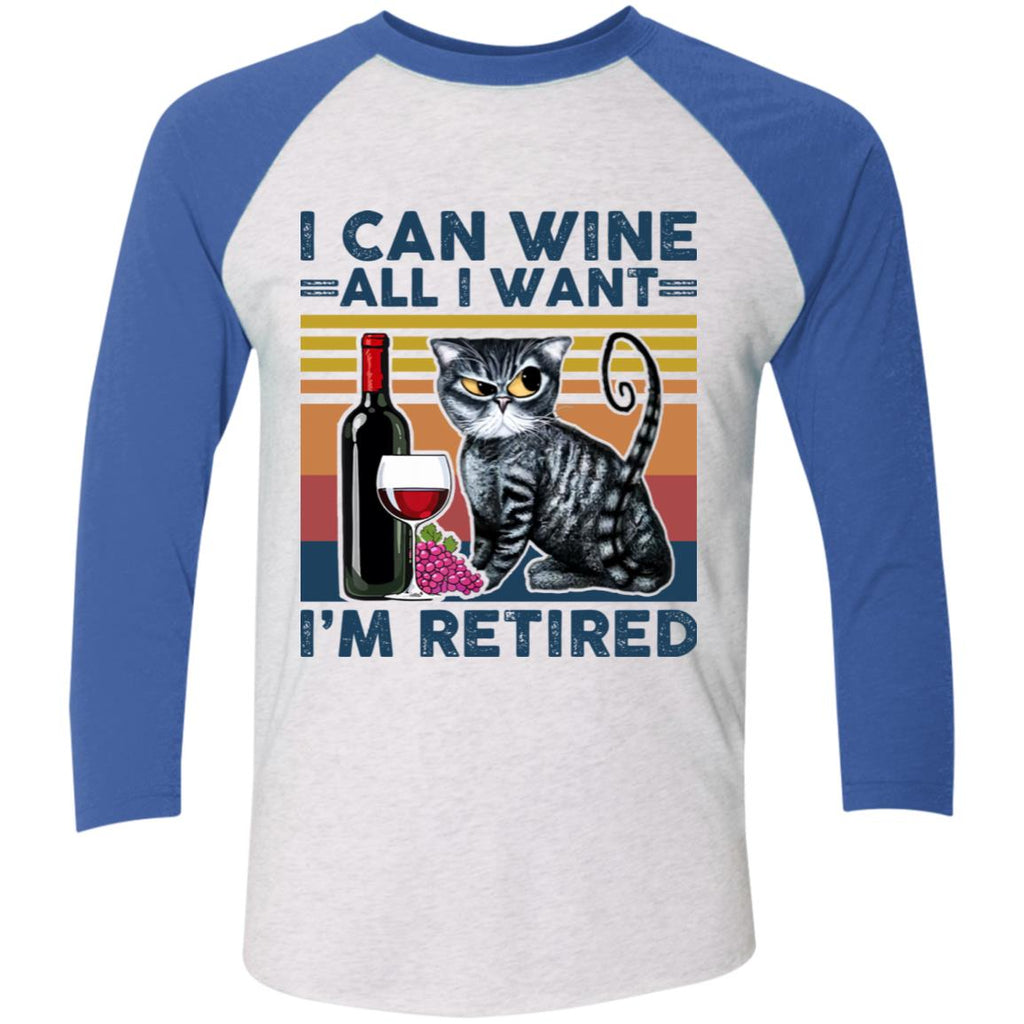 I Can Wine All I Want I'm Retired Funny Cat shirts