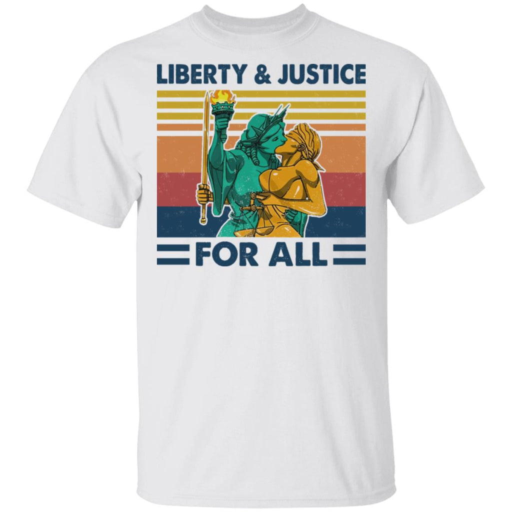 liberty and justice for all kissing tshirt