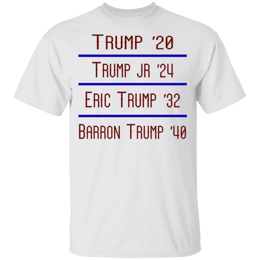 Trump 20 Trump Jr 24 Eric Trump 32 Barron Trump 40 shirts