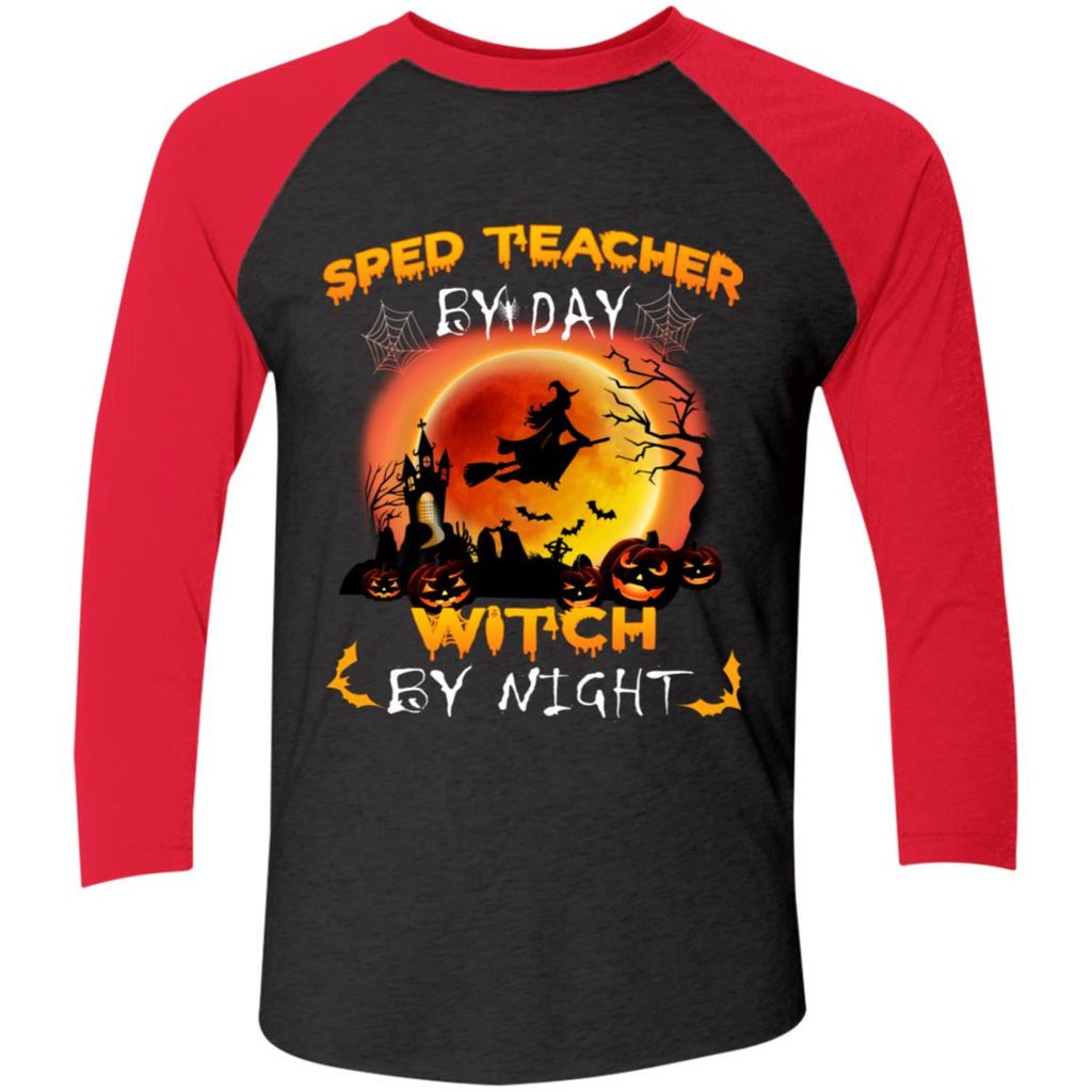 Sped teacher by day witch by night shirts Funny Halloween