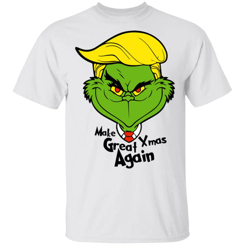 Funny Grinch Trump Make Great Xmas Again shirts