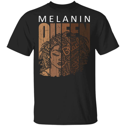 Melanin Queen Tee African American Strong Black Natural Afro Shirts