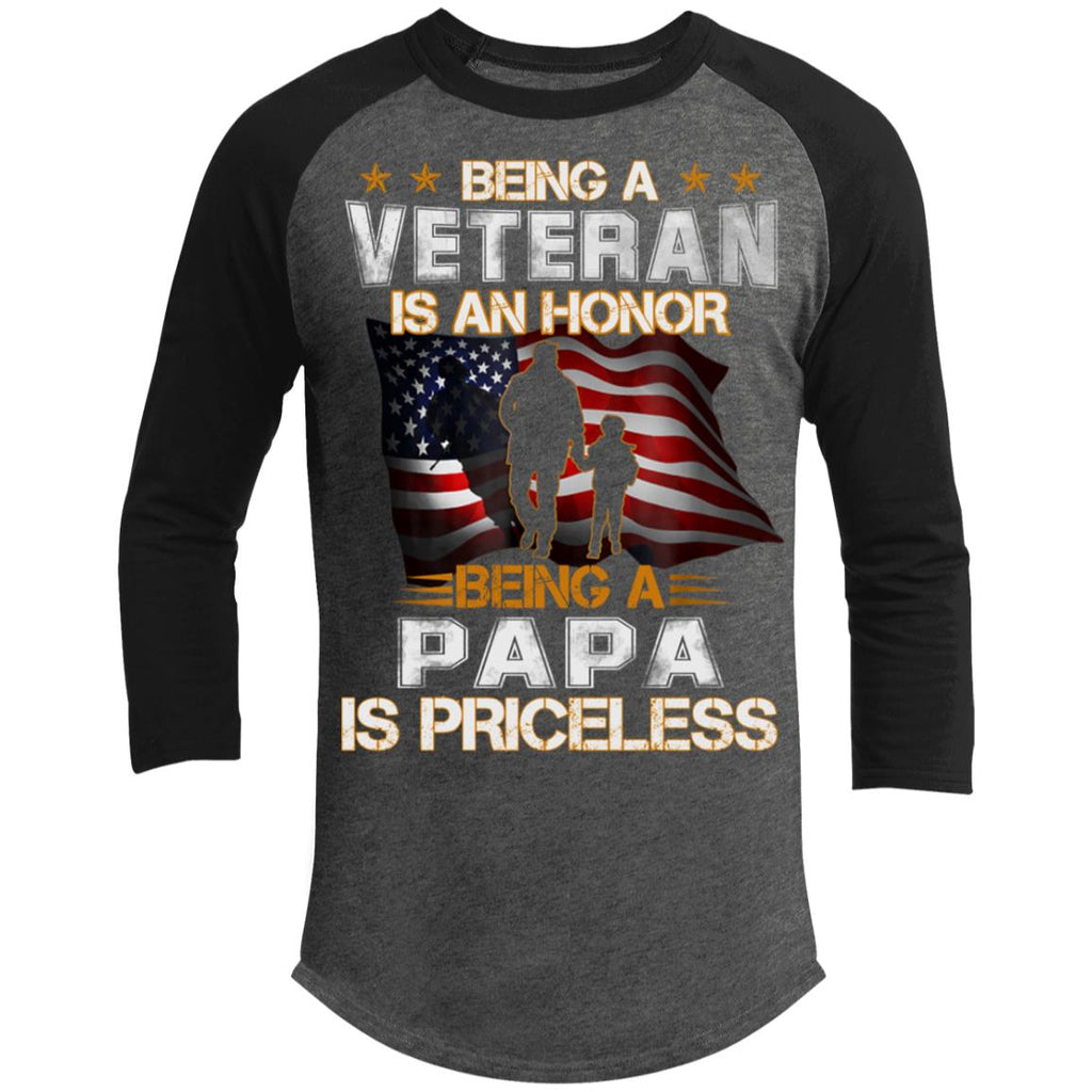 Being A Veteran Is An Honor Being A Papa Is Priceless shirts
