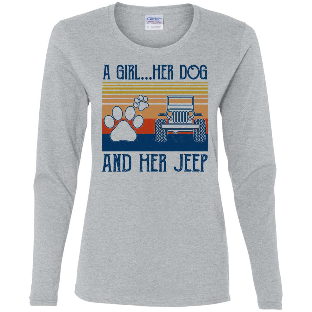 A Girl Her Dog And Her Jeep shirts