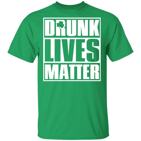 Drunk Lives Matter Shamrock TShirts St Patricks Day Drinking Team