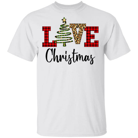 Love Christmas Plaid Funny