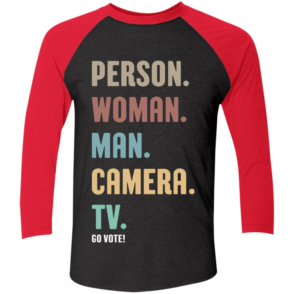 Person Woman Man Camera TV Go Vote shirts