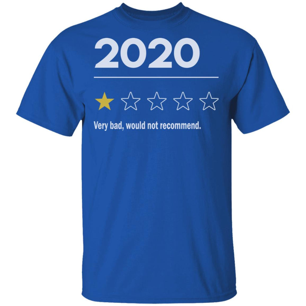 2020 Very Bad Would Not Recommend shirts