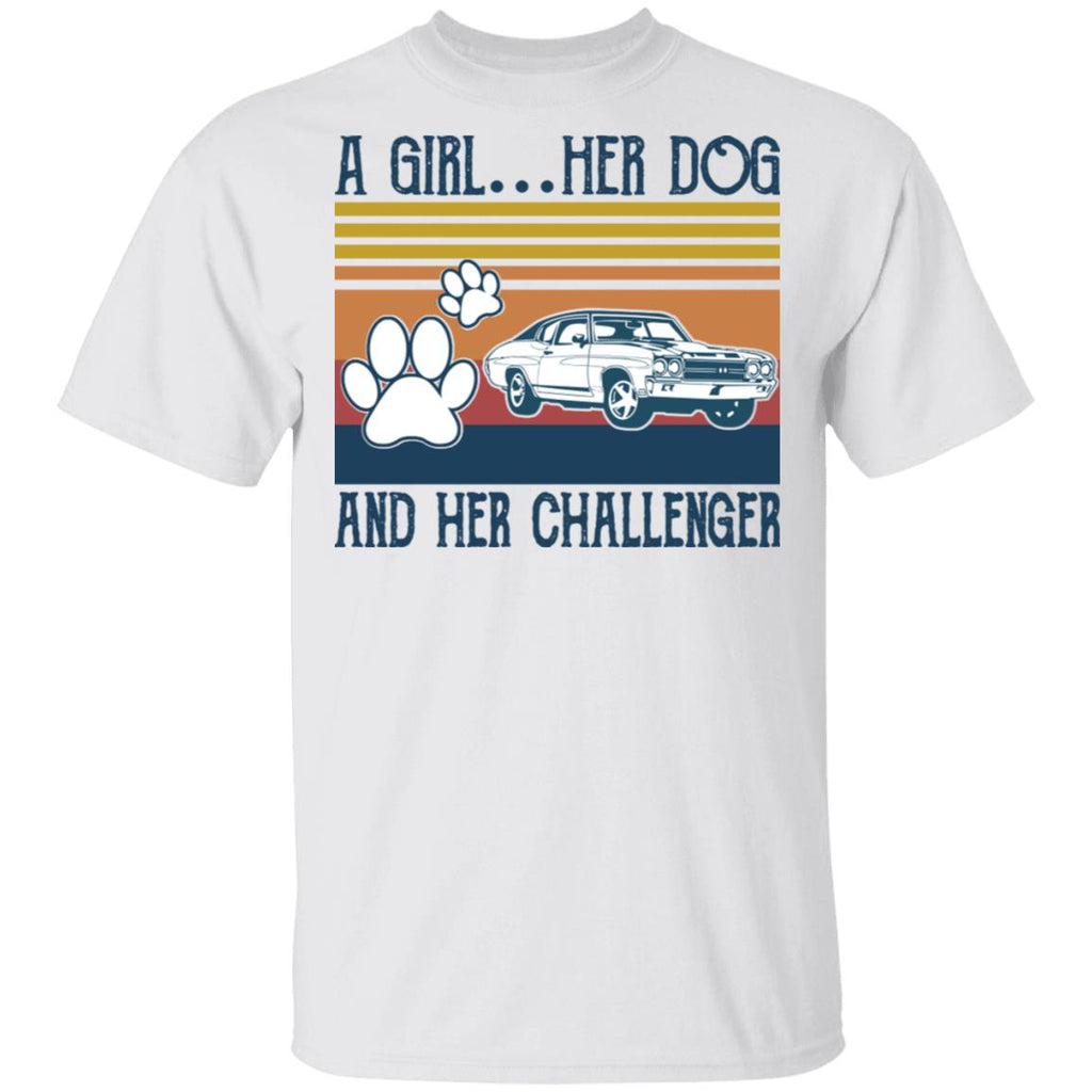 A Girl Her Dog And Her Challenger shirts