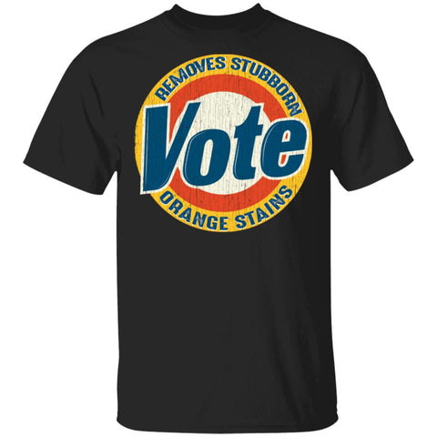 Vintage Vote Removes Stubborn Orange Stains Funny Anti Trump shirt