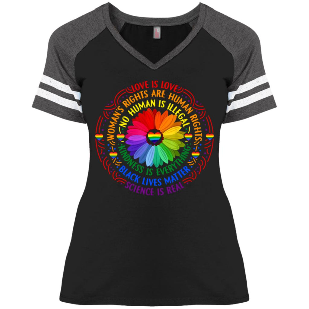 Rainbow Black Lives Matter Science LGBT Pride Flower shirts