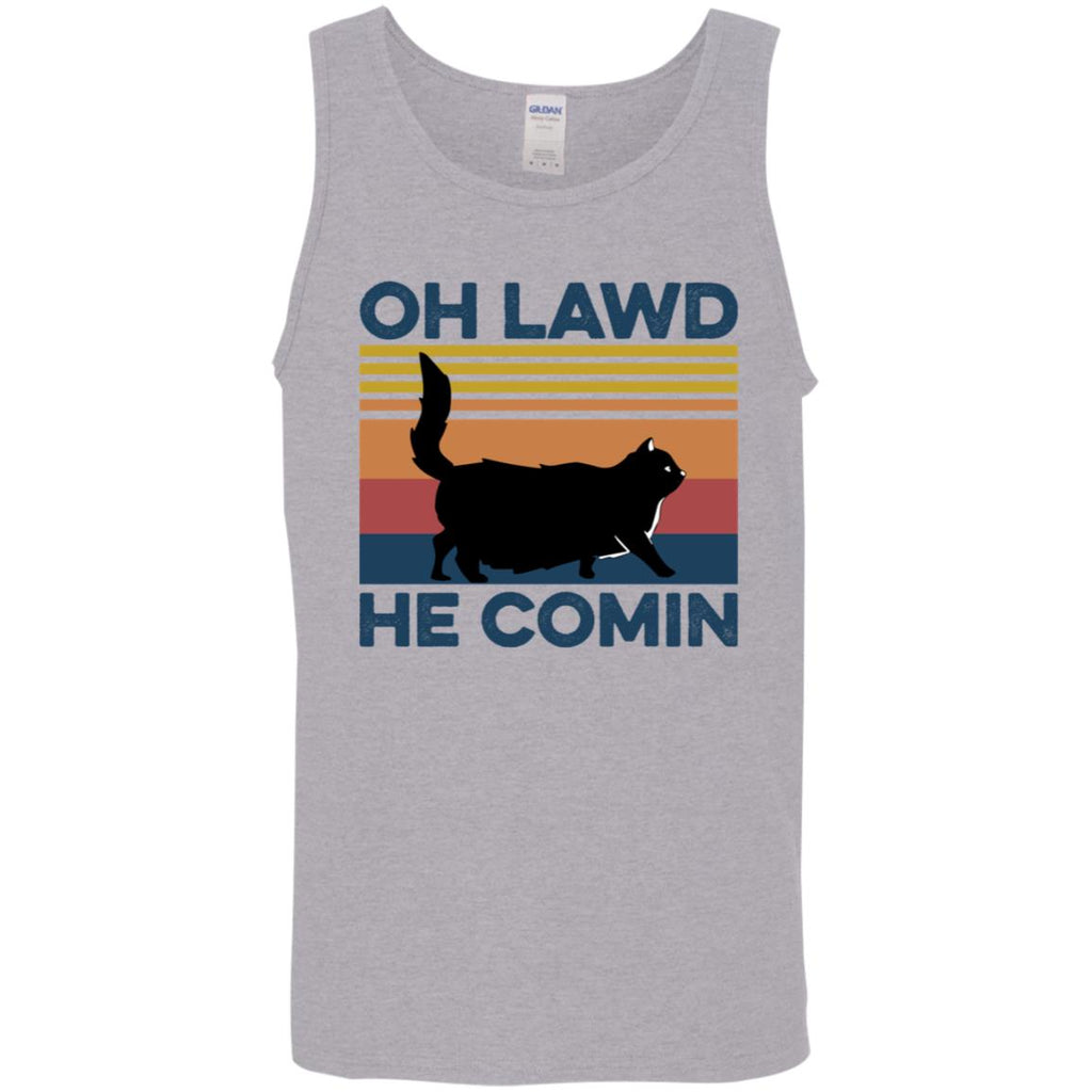Black Cat Oh Lawd He Comin Shirts