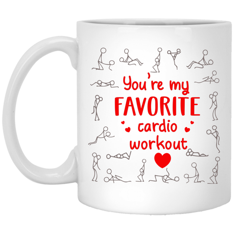 Funny Valentine's Day You're My Favorite Cardio Workout Coffee Mug