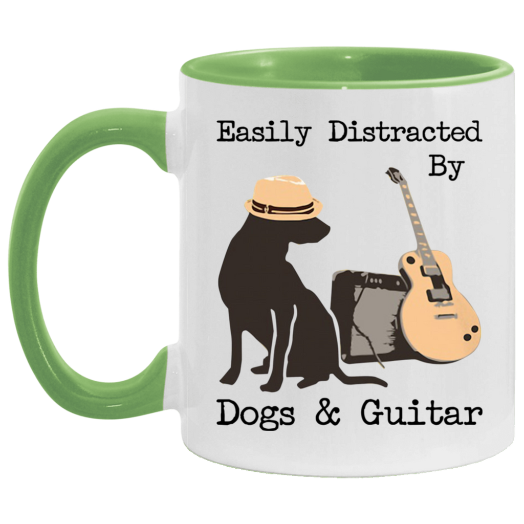 Easily Distracted By Dogs and Guitar Mug
