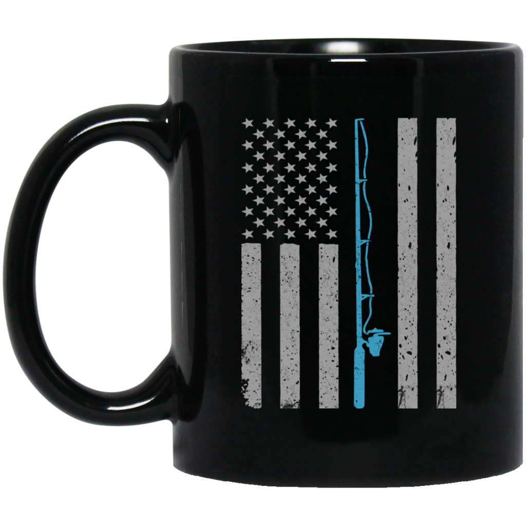 American Flag Fishing Mug Cup Coffee Vintage American Flag Fishing Lover