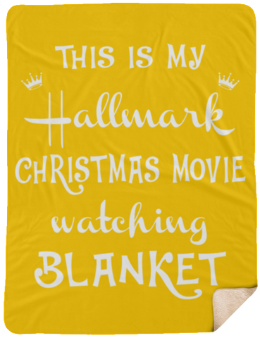 This is My Hallmark Christmas Movie Watching Blanket Funny Sherpa Blanket