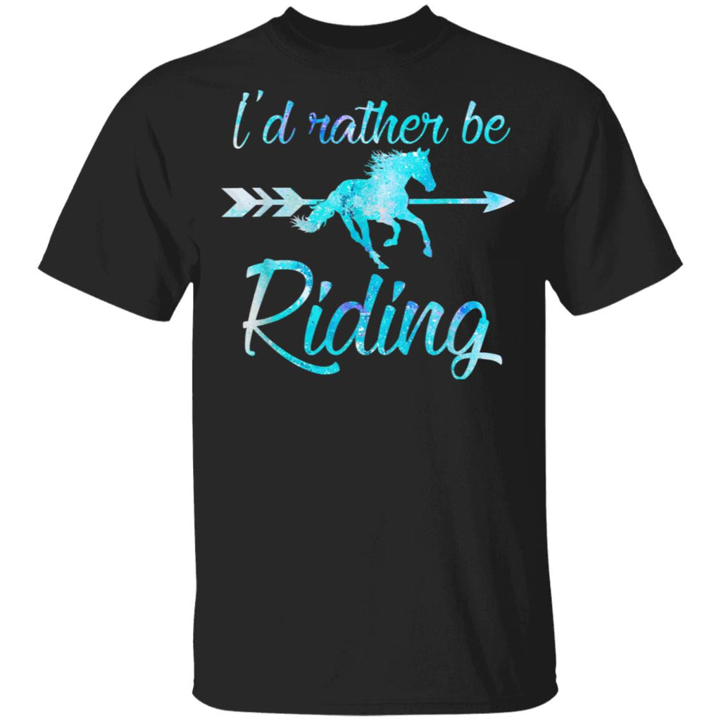 EQUESTRIAN T SHIRT I/'D RATHER BE RIDING MY HORSE