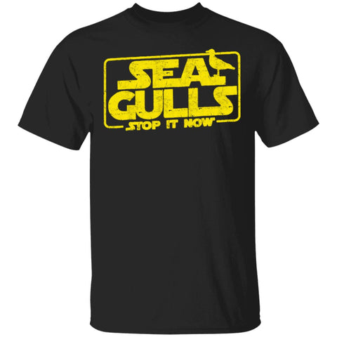 Seagulls Stop it Now Funny Bird shirts