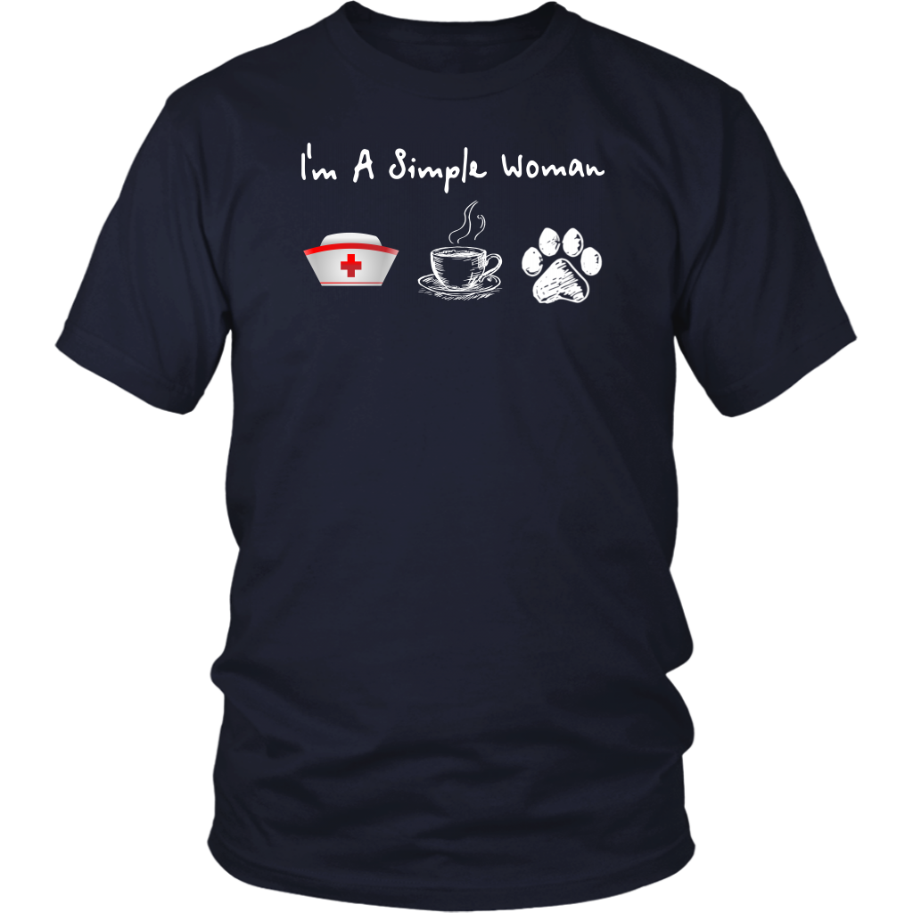 I'm A Simple Woman Nurse Coffee and Dog shirts