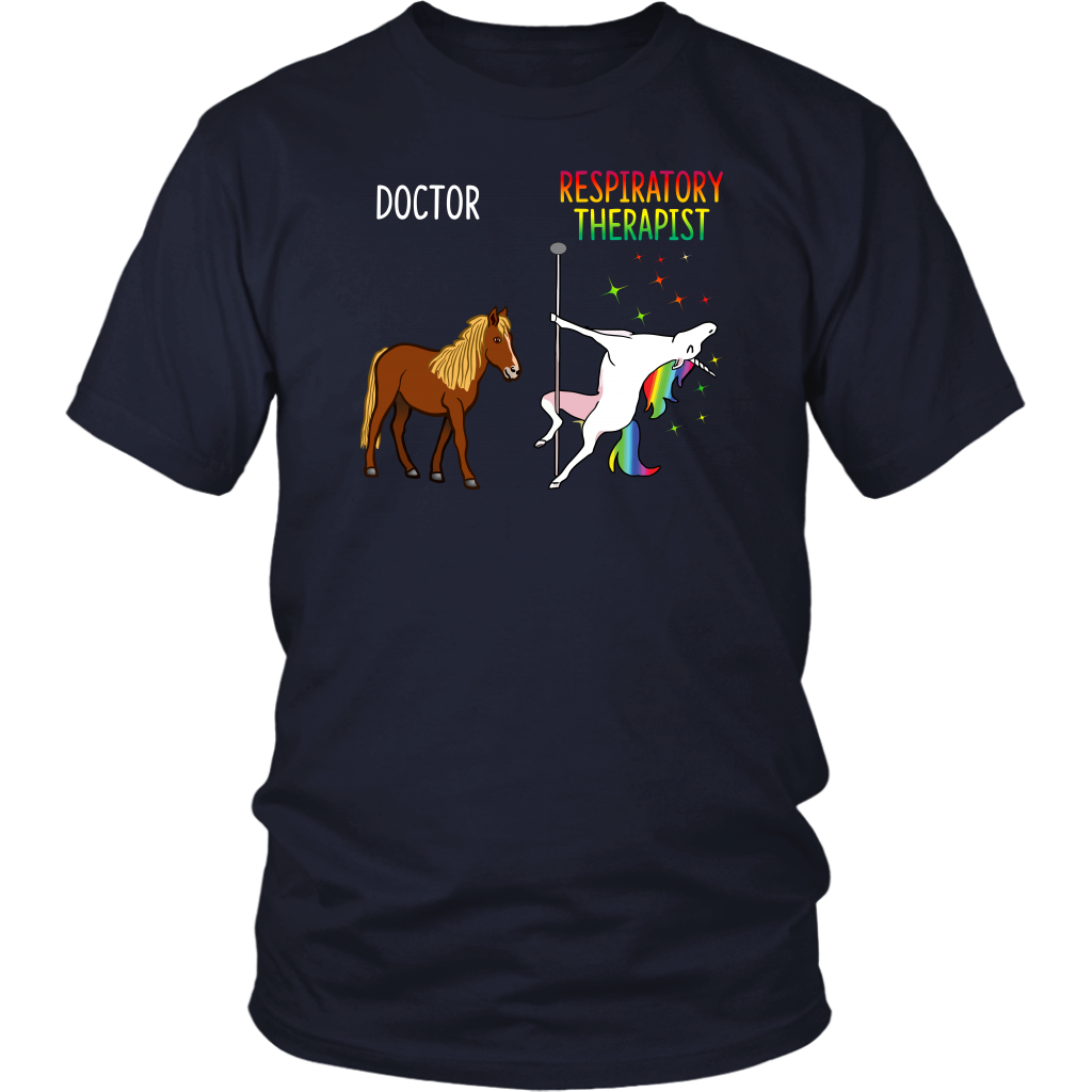 Funny Doctor and Respiratory Therapist Unicorn Dancing shirt