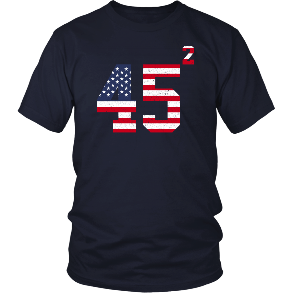 Vintage 45 2 Squared Trump 2020 Second Term USA Flag shirt