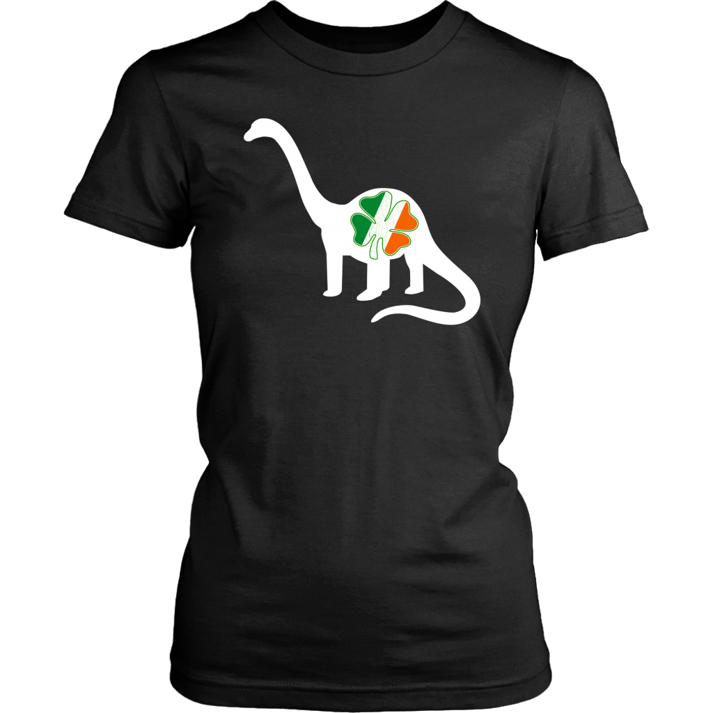 Irish Ireland Dinosaur Shamrock Clover Flag shirt