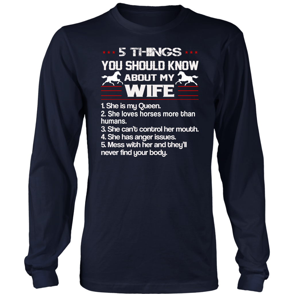5 Things You Should Know About My Wife shirt Horse
