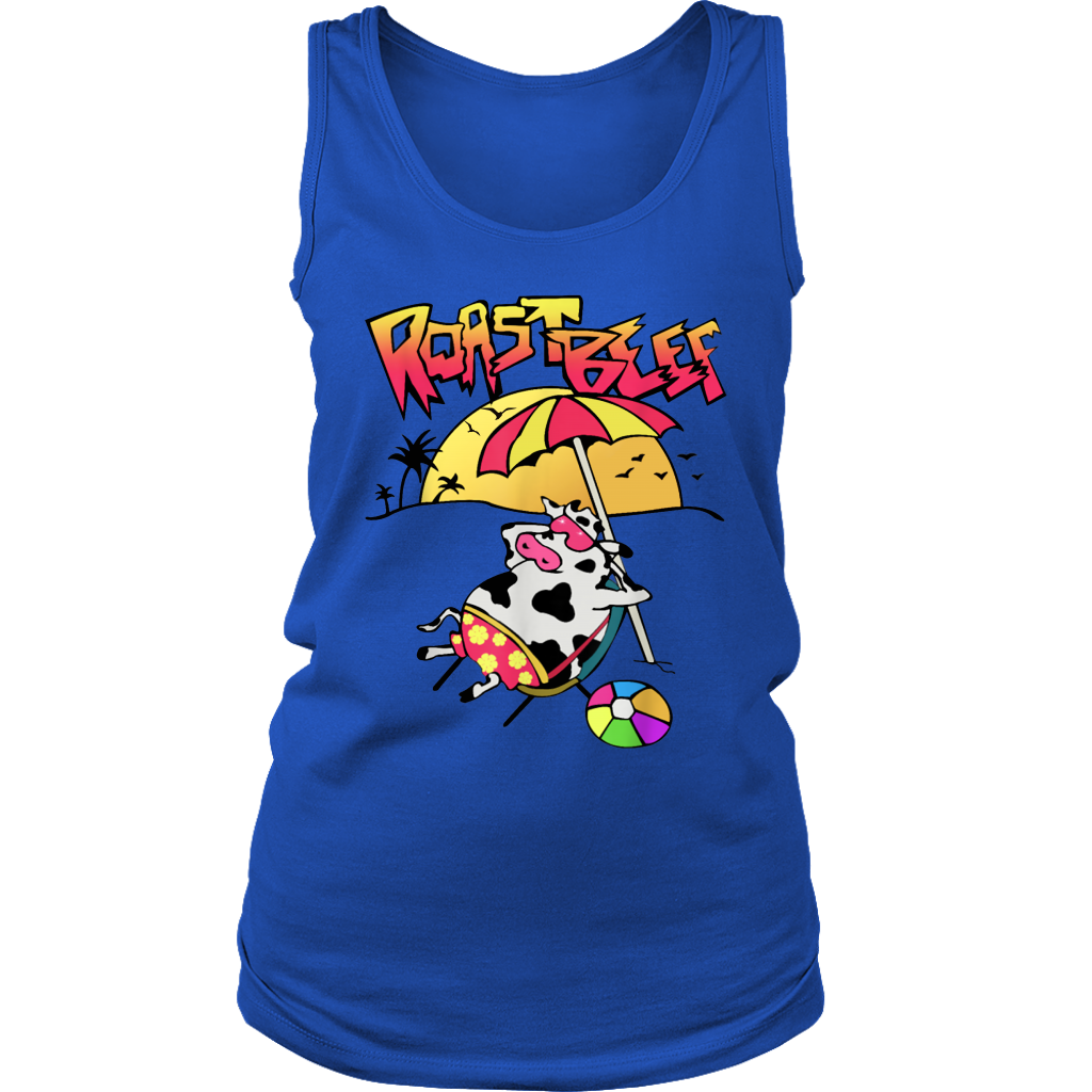 Roast Beef T Shirt Things Roastbeef Real Fans Cow on Beach