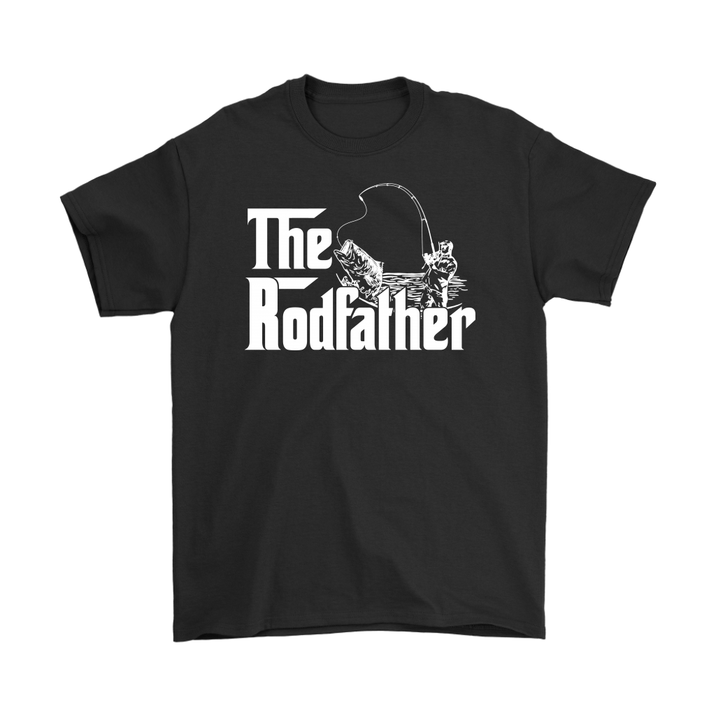 The Rodfather Funny Fishing Tshirt Fisherman