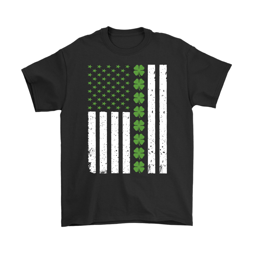 St Patrick's Day Shamrock Irish American Flag shirt