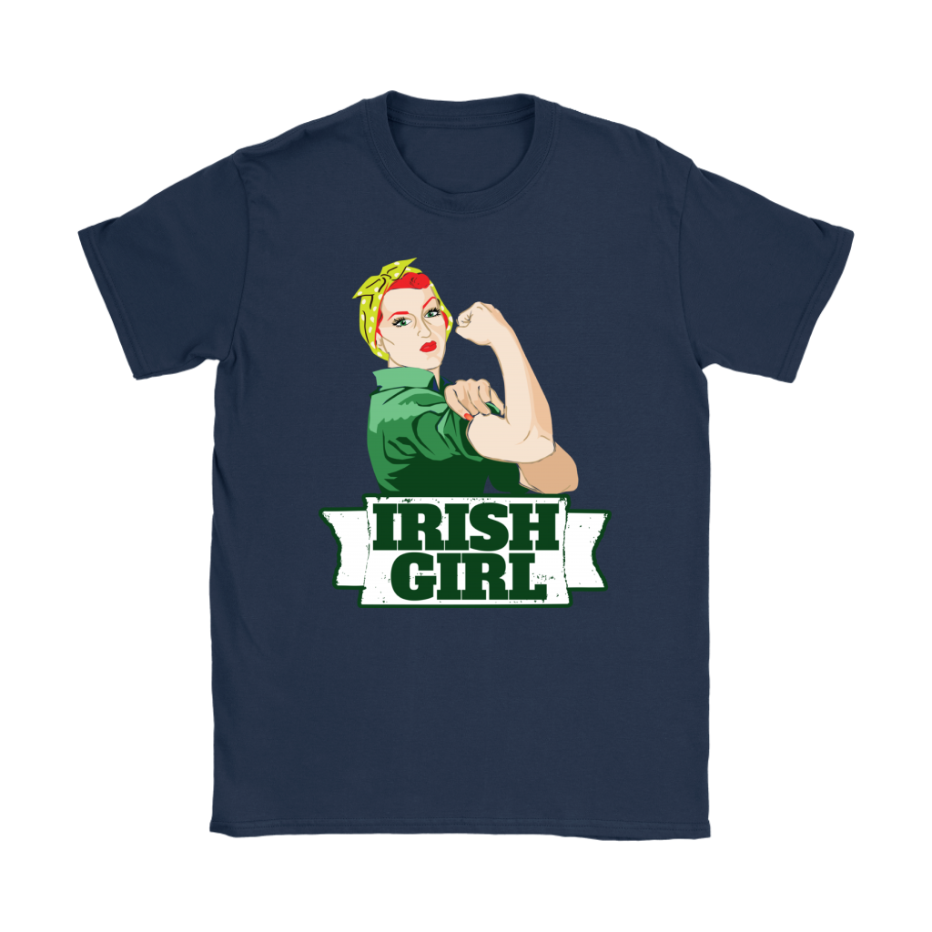 St Patricks Day Irish Girl Strong Women Feminist shirts