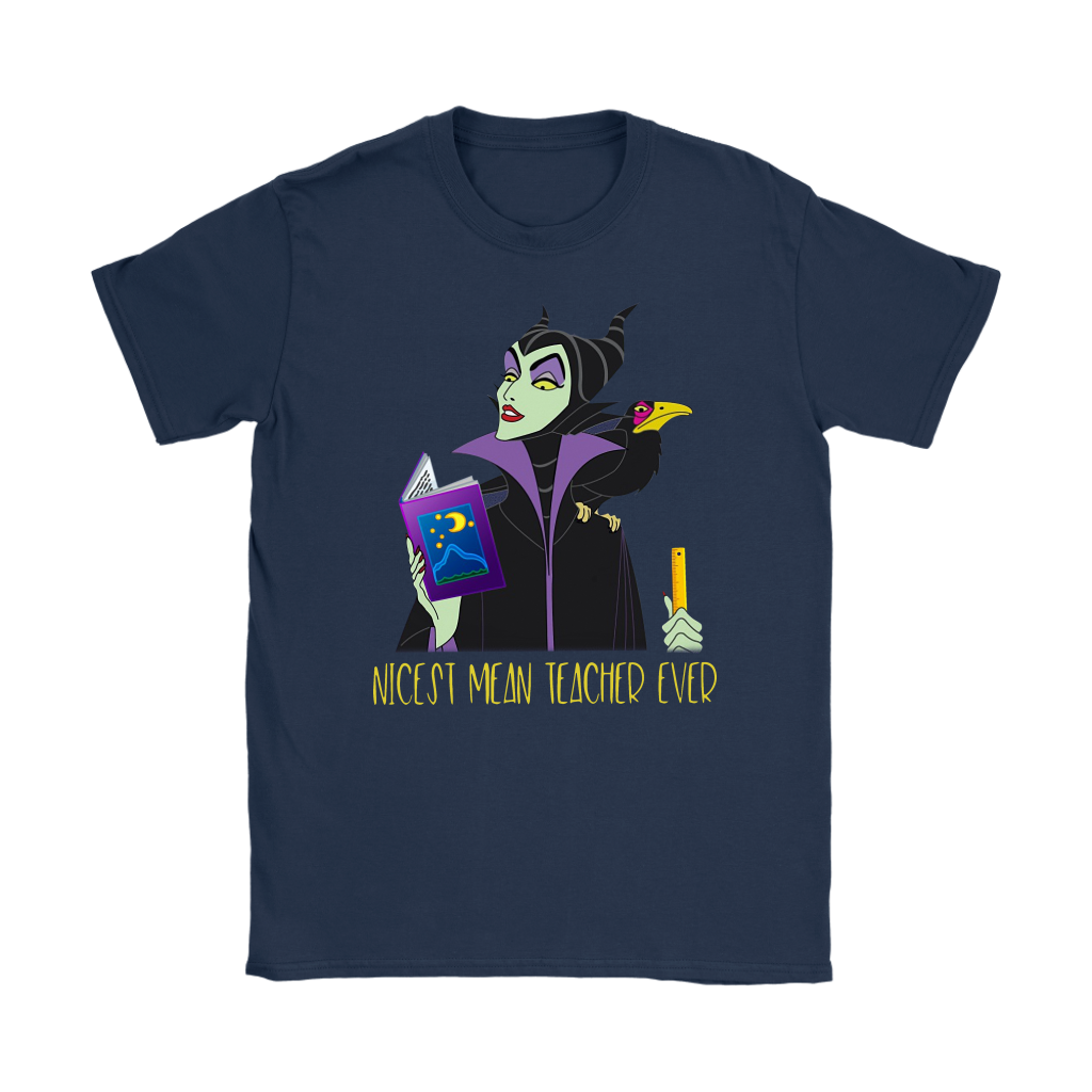 Maleficent Nicest Mean Teacher Ever shirt funny
