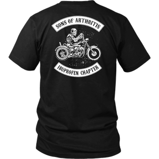 Sons Of Arthritis ibuprofen chapter shirts back side