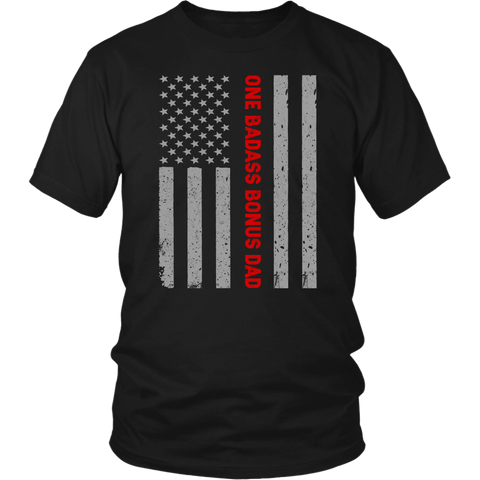 One Badass Bonus Dad American Flag classic shirt