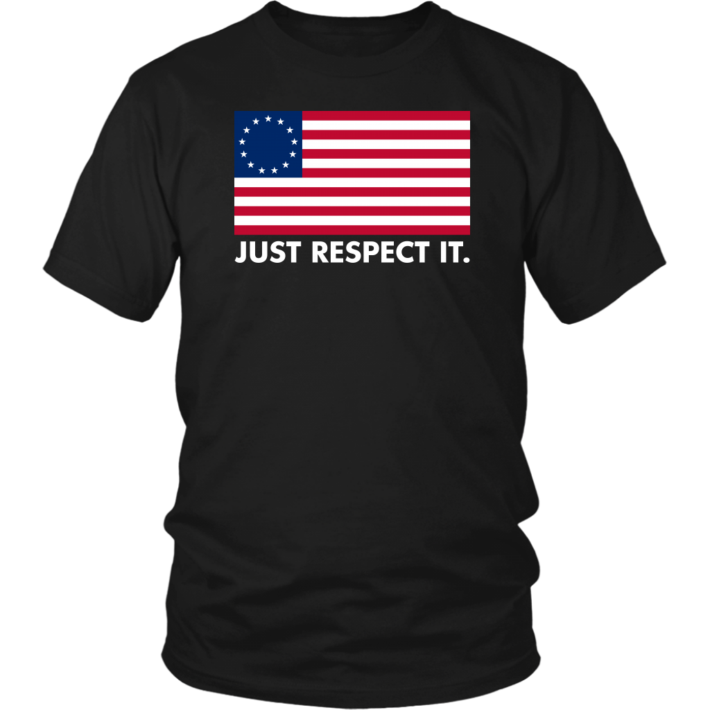 Just Respect It Betsy Ross American Flag Shirt