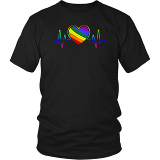 LGBT Rainbow Heartbeat Love shirt