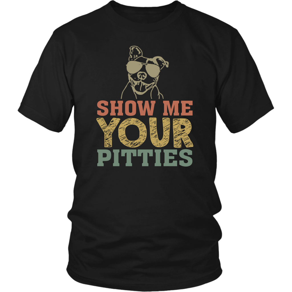 Pitbull Dog Show Me Your Pitties Retro shirt