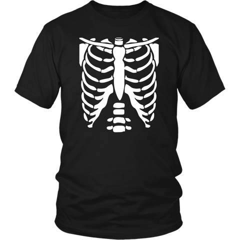 Skeleton Bone shirt Halloween Costume Rib cage Anatomy shirts