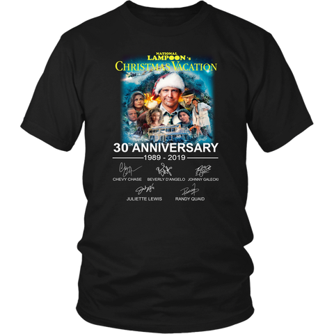 National Lampoon's Christmas Vacation 30th anniversary 1989-2019 signatures shirt