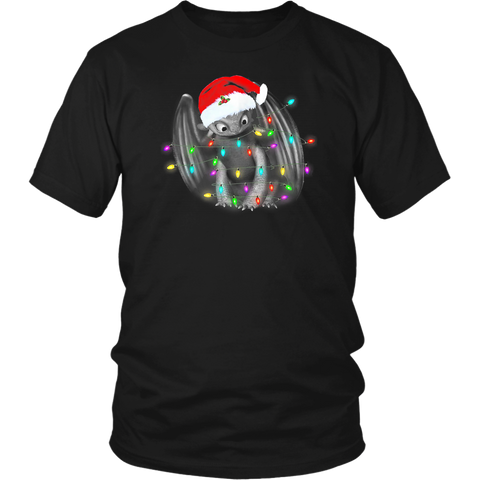 Toothless Dragon Santa Christmas Lights Shirts