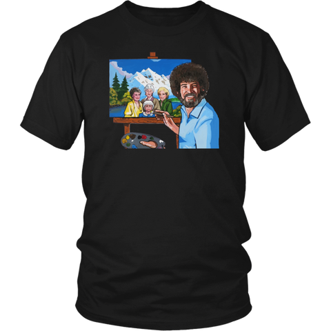 Bob Ross Painting The Golden Girls shirt