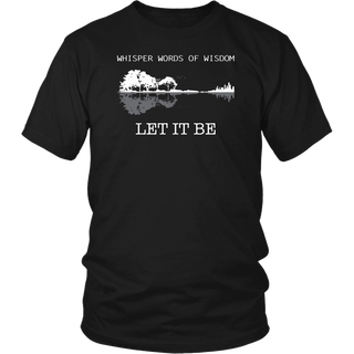 Classic Whisper Words Of Wisdom Let It Be Guitar Lake Shadow shirt