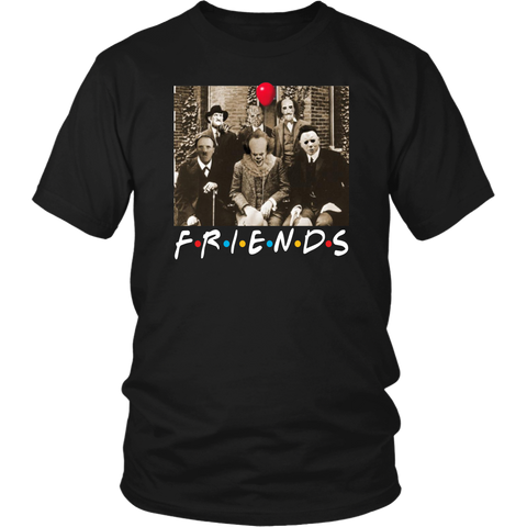 Fun Halloween Psychodynamics Horror Characters Friends Shirts