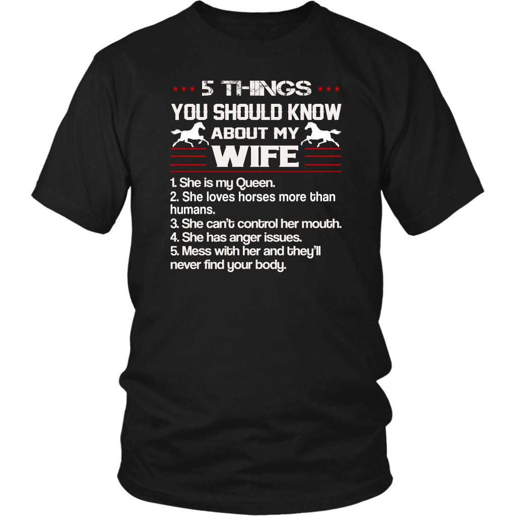 5 Things You Should Know About My Wife shirt Horse valentines day