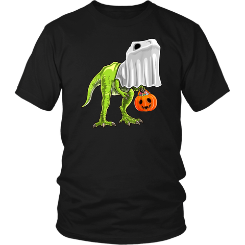 Halloween T Rex Dinosaur Ghost Trick or Treat T Shirts Funny