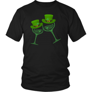 Shamrocks Clover Wine St Patricks Day Hat shirt Irish