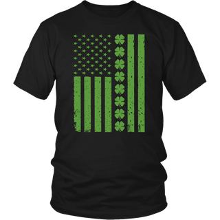 St Patricks Day Irish American Flag T-Shirt
