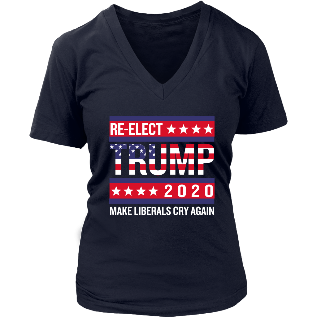 Trump Election 2020 Make Liberals Cry Again GOP T Shirts