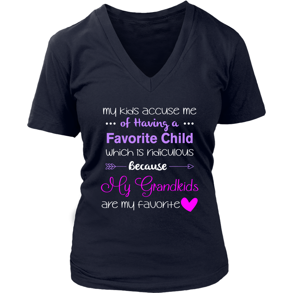 My Grandkids Are My Favorite Funny T Shirt Grandma Grandpa Gift