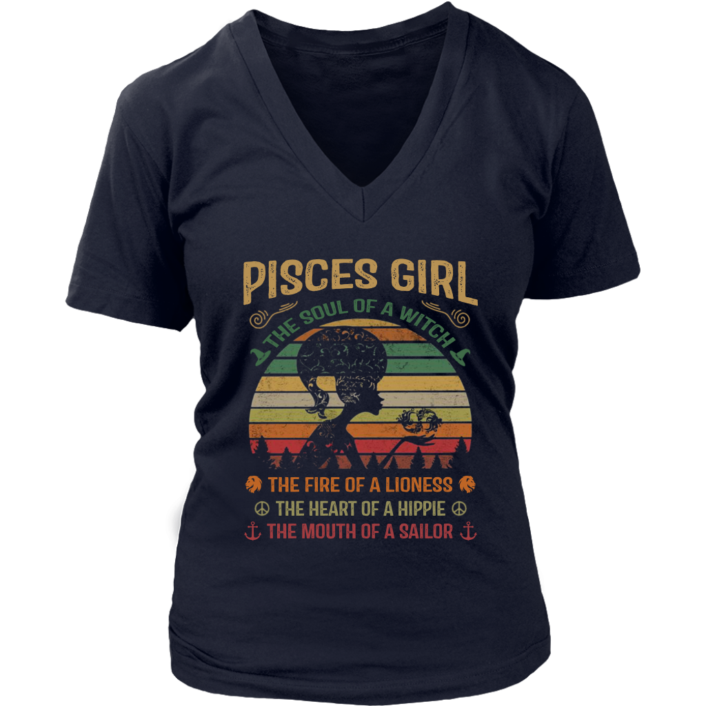 Pisces Girl the soul of a witch the fire of a lioness shirt